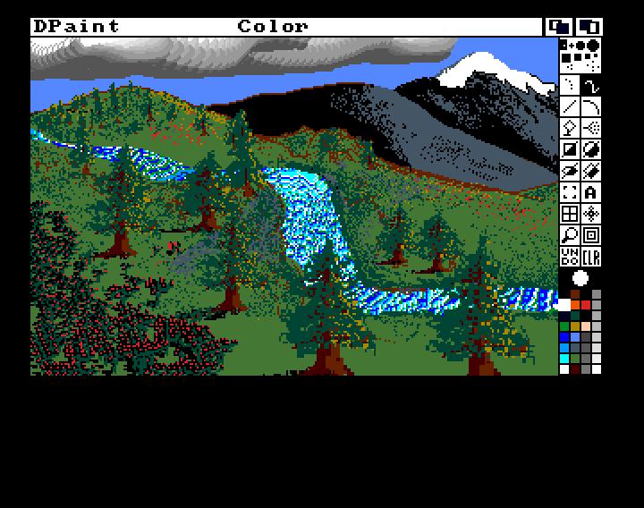 Dpaint IV on Amiga screenshot
