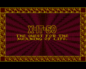 X-IT-50: The Quest for the Meaning of Life