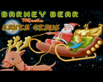 Barney Bear meets Santa Claus