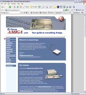 Original Classicamiga.com website